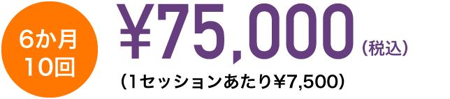 ¥75,000 6か月 10回 (1セッションあたり¥7,500)