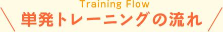 単発トレーニングの流れ